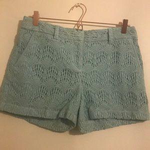 Ann Taylor lift sage green lace shorts. Size 4